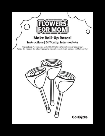 Make Roll Up Roses
