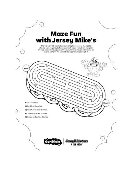 Maze Fun with Jersey Mike's