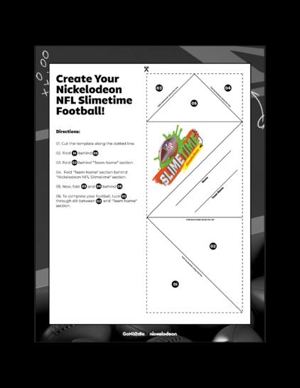 Nickelodeon NFL Slimetime Tabletop Football League Measurement Lesson